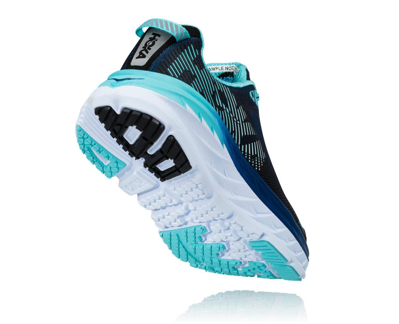 HOKA Bondi 5 blue womens shoe side view